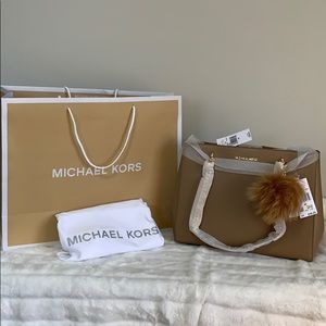 NWT Michael Kors Ellis Large Tote in Dark Khaki